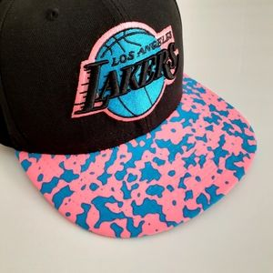 New Era L.A. Lakers Pink & Blue 59fifty Fitted Cap